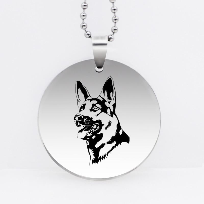 Stainless Steel German Shepherd Key chain and Necklace - Idealpaws