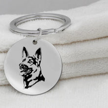 Load image into Gallery viewer, Stainless Steel German Shepherd Key chain and Necklace - Idealpaws