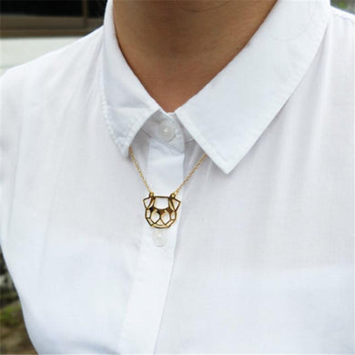 Origami Pug Necklace - Idealpaws