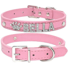 Load image into Gallery viewer, Paw-sonalized Rhinestone Dog Collar - Idealpaws