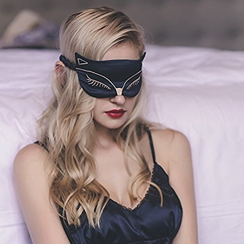 Double-Side Smoothing Mulberry Silk Cat Eyeshade - Idealpaws
