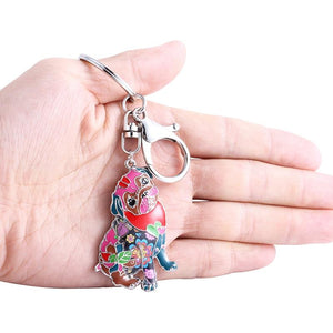 Colorful Enamel Pug Dog Keychain - Idealpaws