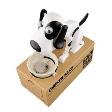 Cute Small Dog Coin Meal Piggy Bank - Idealpaws