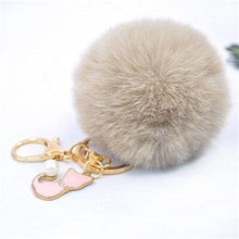 Load image into Gallery viewer, Pom Pom Faux Rabbit Fur Cat Key Chain - Idealpaws