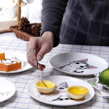 Load image into Gallery viewer, Expression Cat Creative Ceramic Dessert Plates - Idealpaws