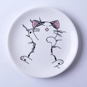 Expression Cat Creative Ceramic Dessert Plates - Idealpaws