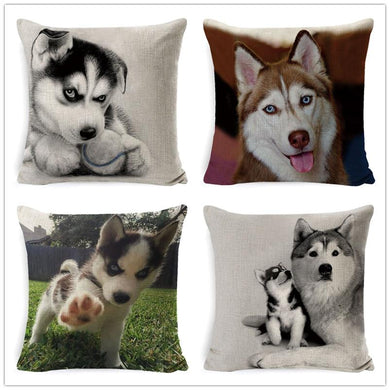 Husky Linen Decorative Cushion Cover - Idealpaws