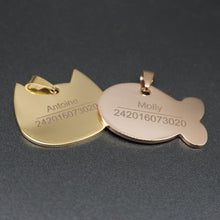 Load image into Gallery viewer, Paw-sonalized Stainless Steel High Quality Engrave ID Tag - Idealpaws