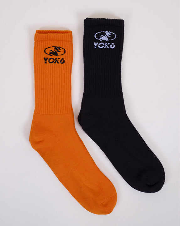Pack de Chaussettes Horror - Orange et Noir - YOKO SHOP