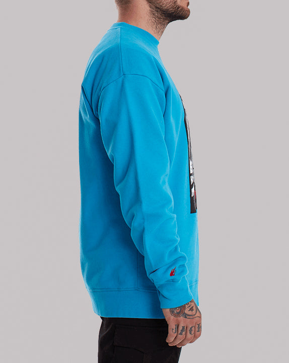 Sweat col rond Hero - Bleu - YOKO SHOP