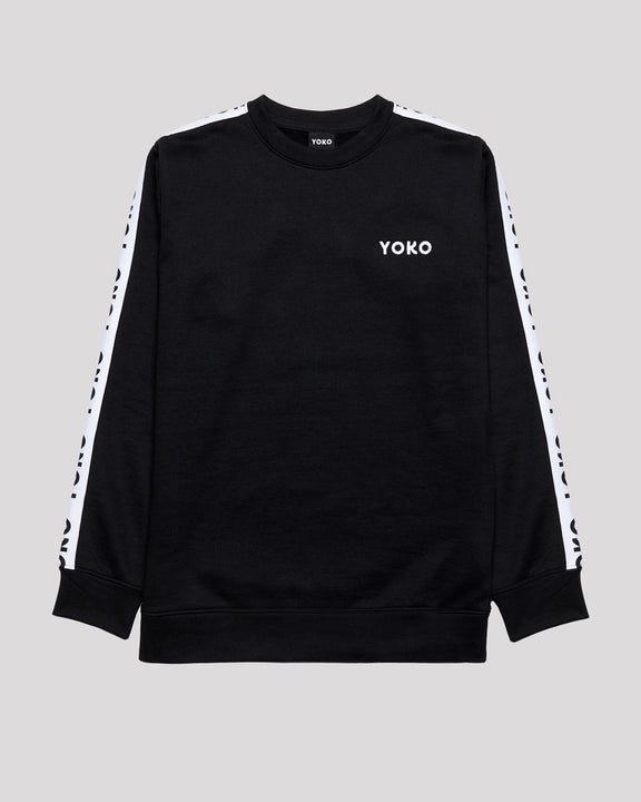 WHITE STRIPES CREWNECK - YOKO SHOP
