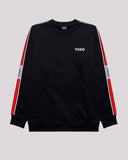 RED STRIPES CREWNECK - YOKO SHOP