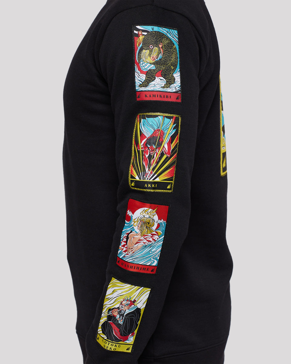 patches illustrations crewneck yokai