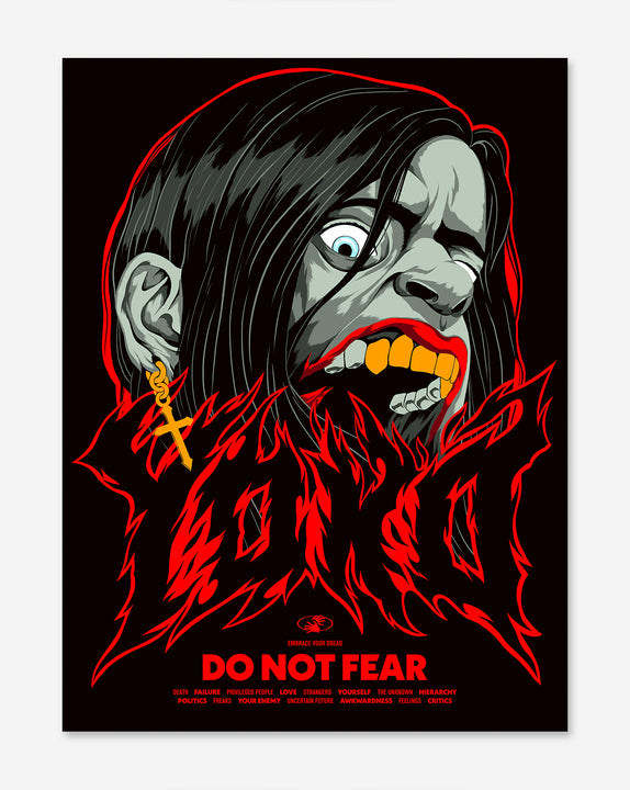 Affiche Do Not Fear - YOKO SHOP