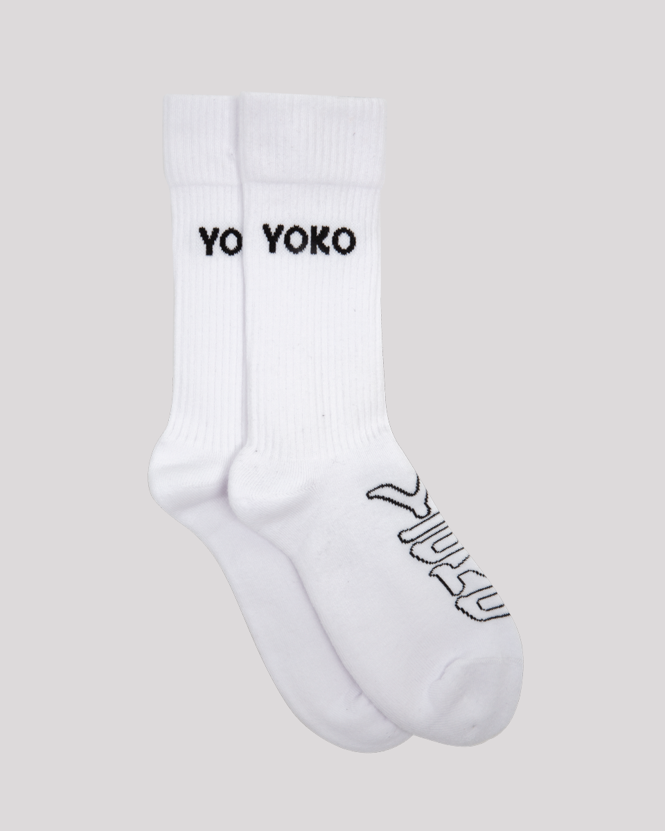 chaussettes blanches yoko