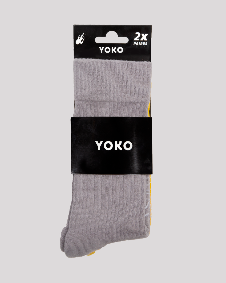 SOCKS YOKO GREY & YELLOW