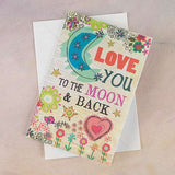 Love You to the Moon Card | Natural Life | On A Branch Boutique