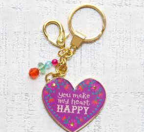Happy Heart Key Chain