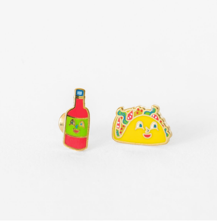 Taco and Hot Sauce Earrings | Jewelry | On A Branch Boutique