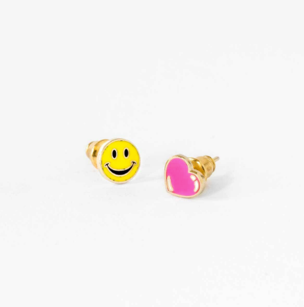 Happy Face and Heart Earrings | Jewelry | On A Branch Boutique
