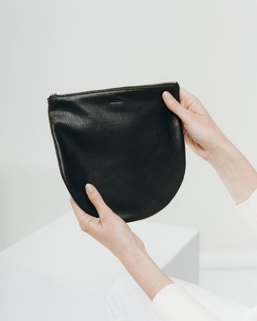 U Pouch in Large Black | Bags | On A Branch Boutique
