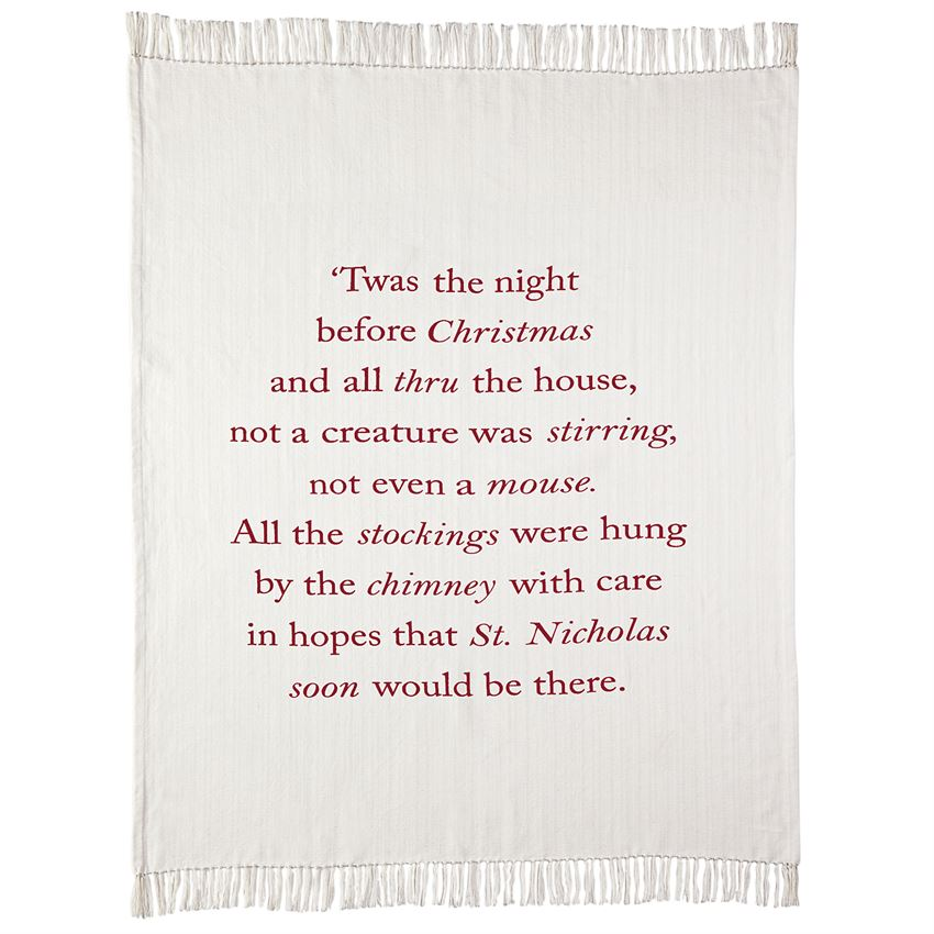 Twas the Night Blanket | Christmas | On A Branch Boutique