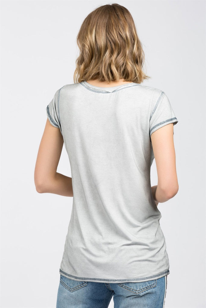 Contrast Stitched Tee | Womens Tops | On A Branch Boutique
