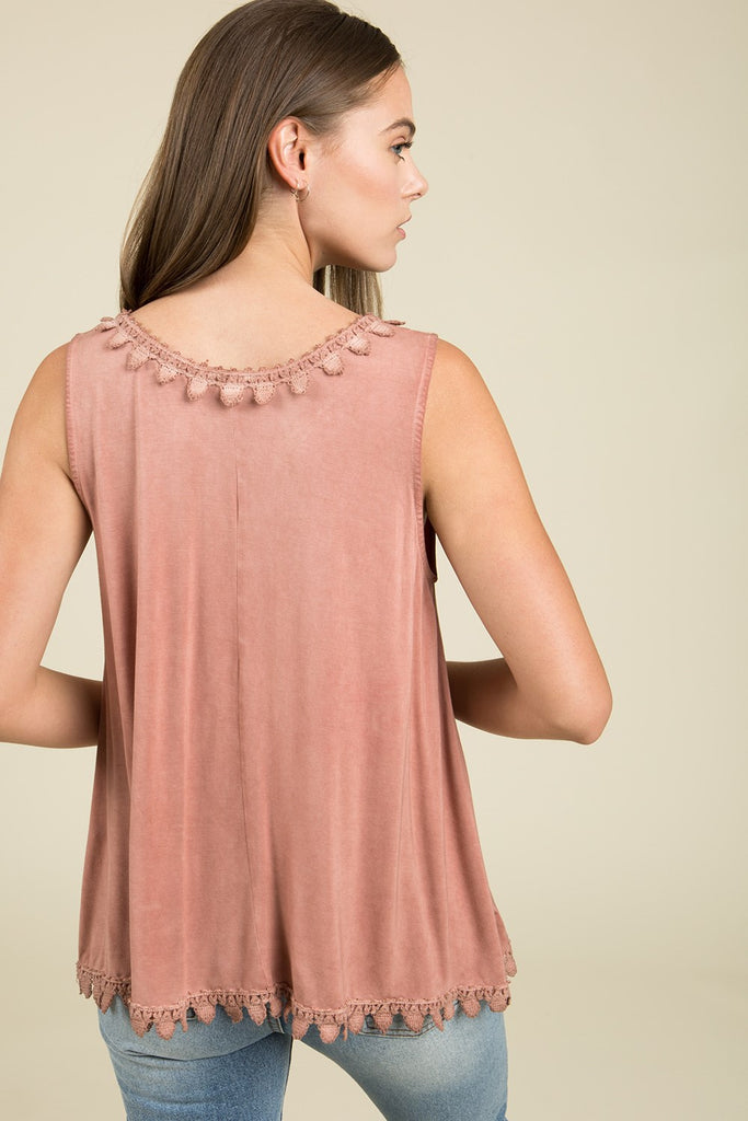 Trimmed Tank | Womens Top | On A Branch Boutique