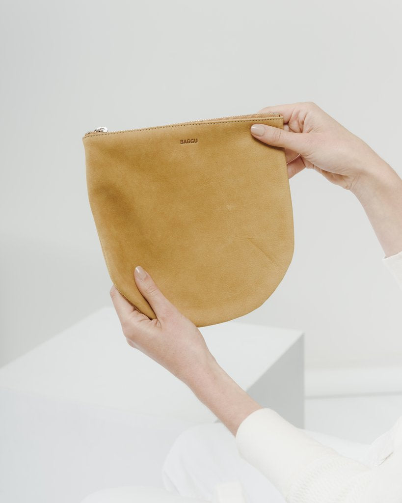 U Pouch in Honey Nubuck Large | Bags | On A Branch Boutique
