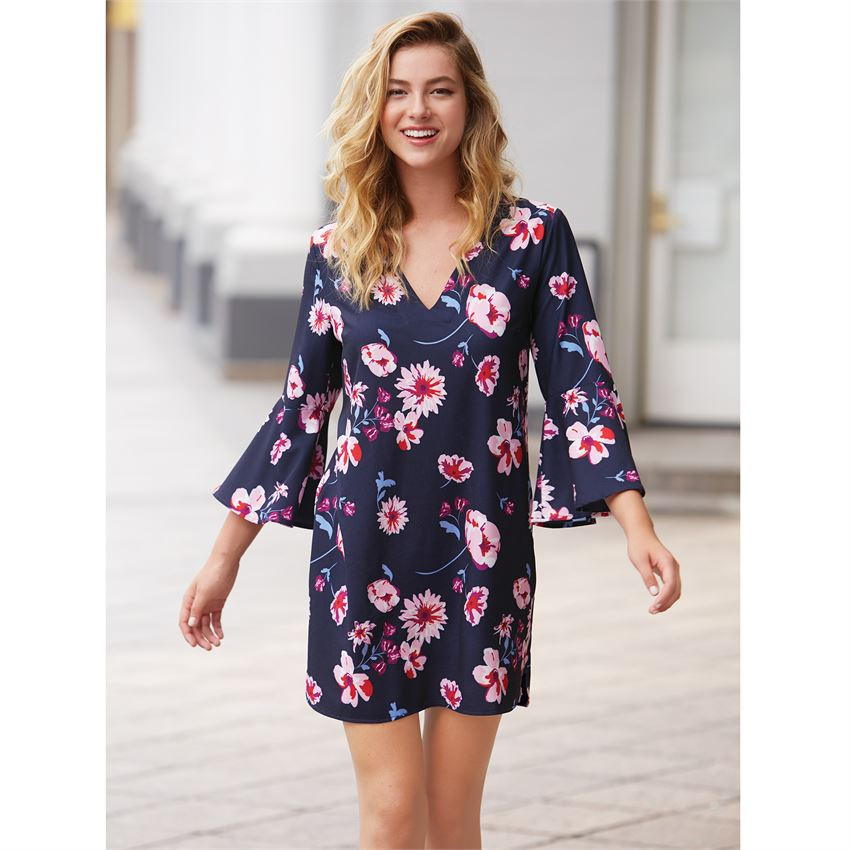 Mila Dress in Navy Floral | Womens Dresses | On A Branch Boutique
