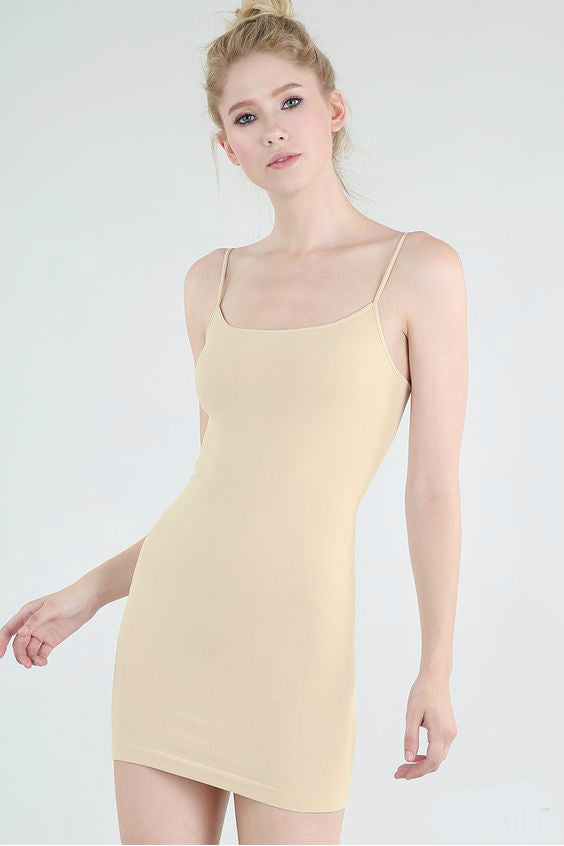 Long Nude Camisole | Womens Dresses and Basics | On A Branch Boutique