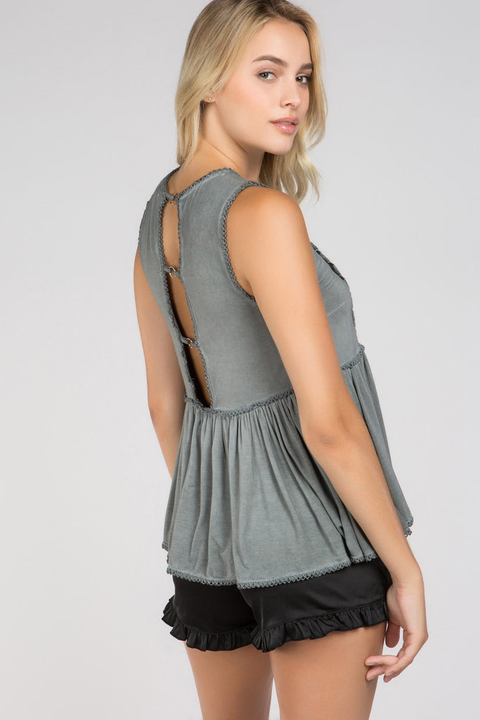Open Back Tank | Womens Tops | On A Branch Boutique