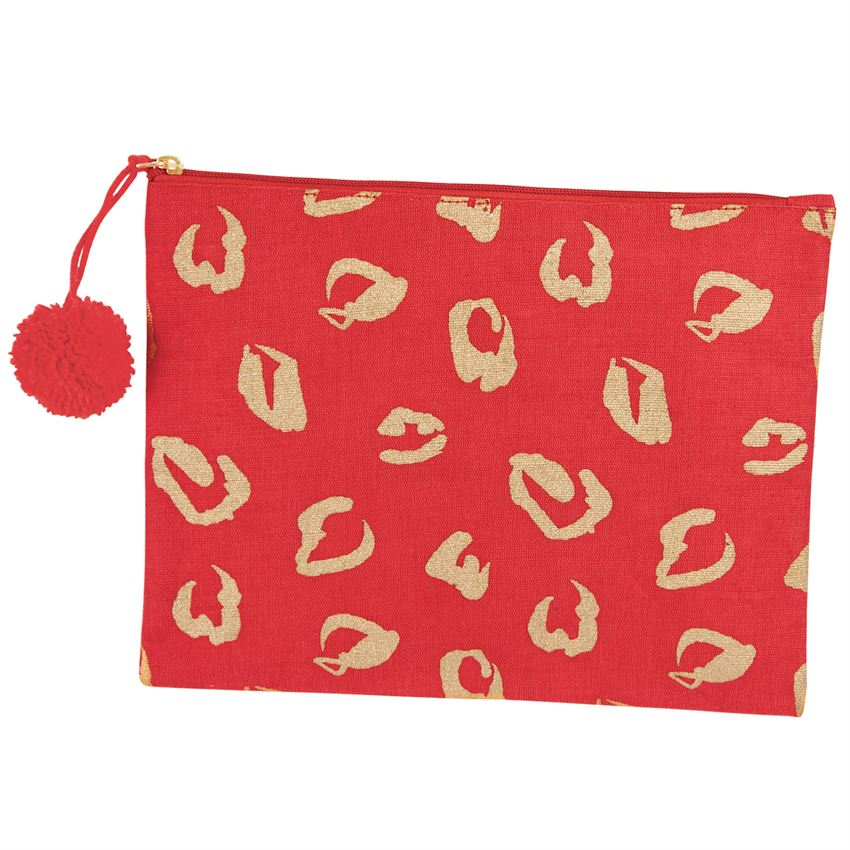 Red Shimmer Case | Bags | On A Branch Boutique