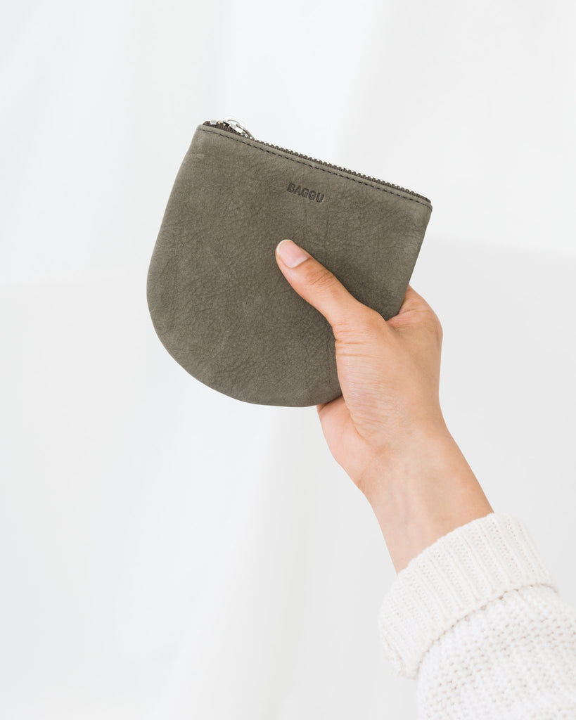 U Pouch in Taupe Nubuck Small | Bags | On A Branch Boutique