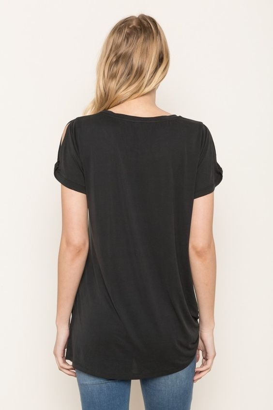 Tie Front Tee | Womens Tops | On A Branch Boutique