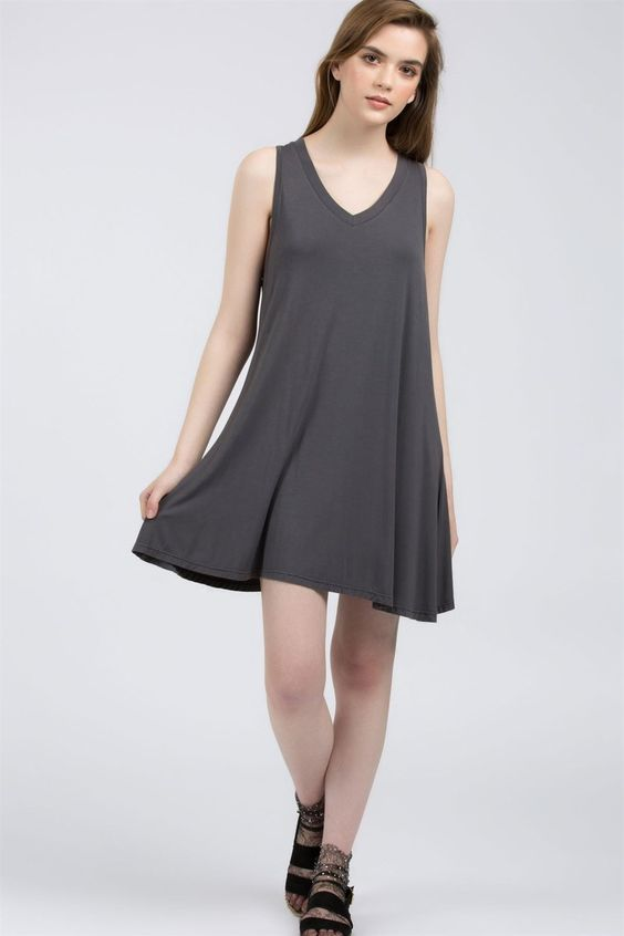 V Neck Everyday Dress