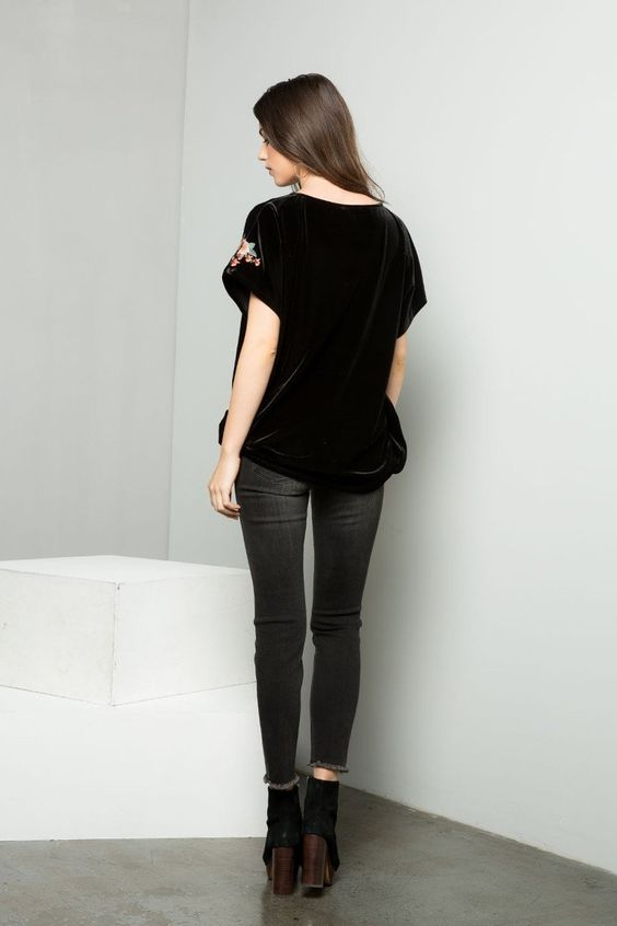 Velvet Tee | Womens Tops | On A Branch Boutique