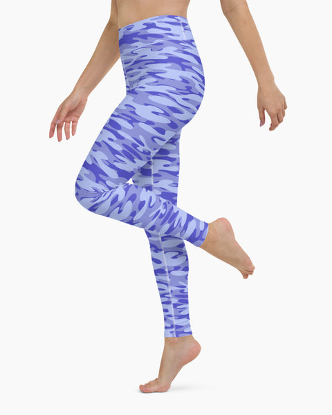 Blueberry Camo Yoga Leggings