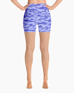 Blueberry Camo Yoga Shorts