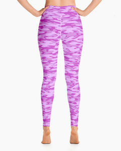 Bubblegum Camo Yoga Leggings