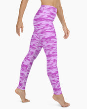 Load image into Gallery viewer, Bubblegum Camo Yoga Leggings
