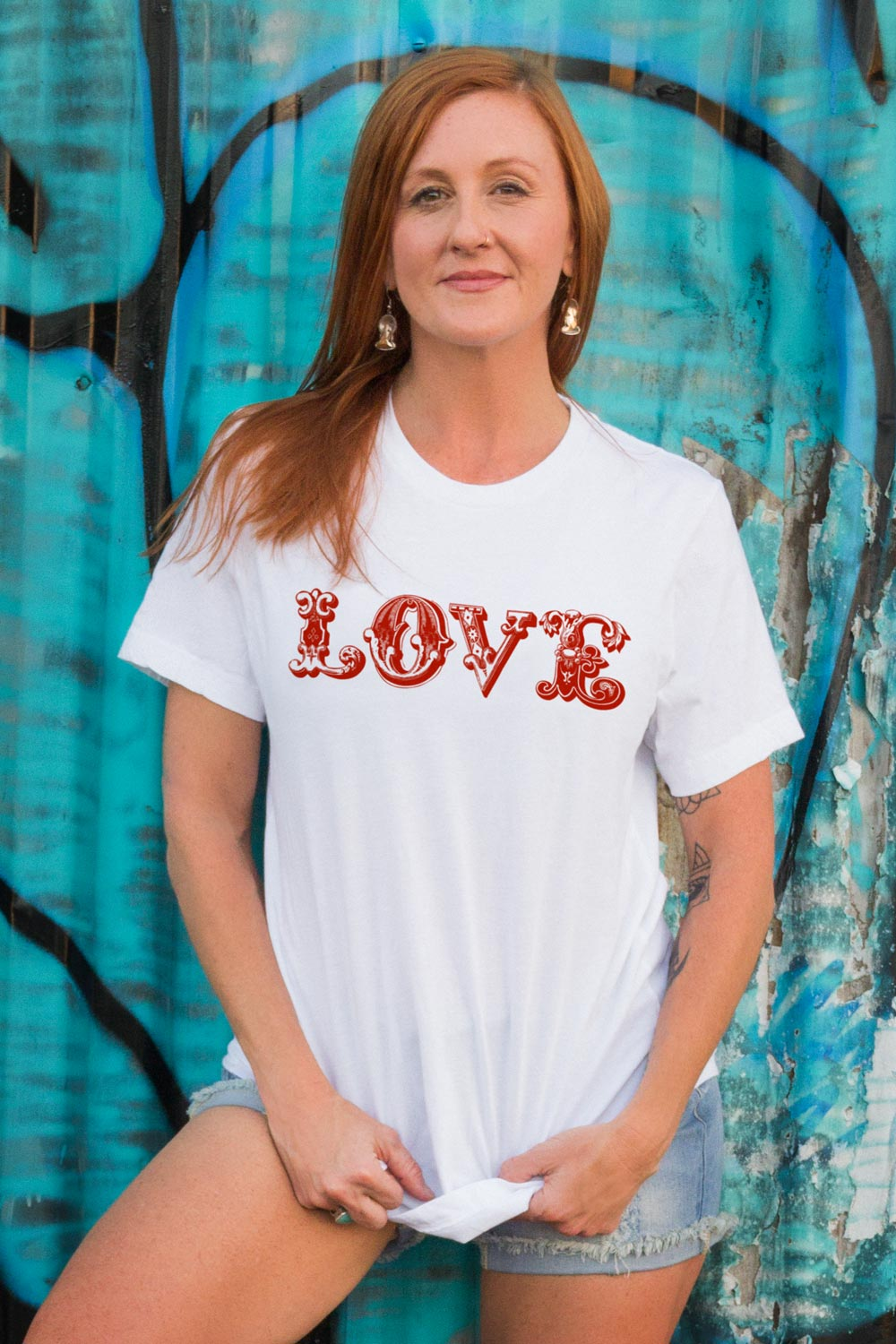 LOVE Graphic Tee - White - koanapparel
