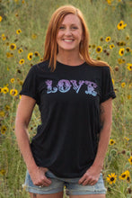 Load image into Gallery viewer, LOVE Graphic Tee - Black