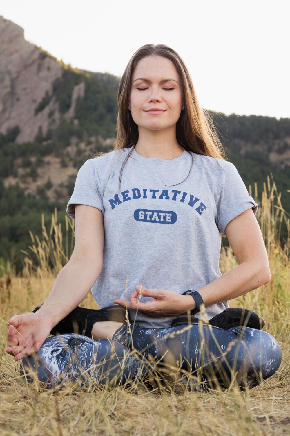 Meditative State Athletic Tee - koanapparel