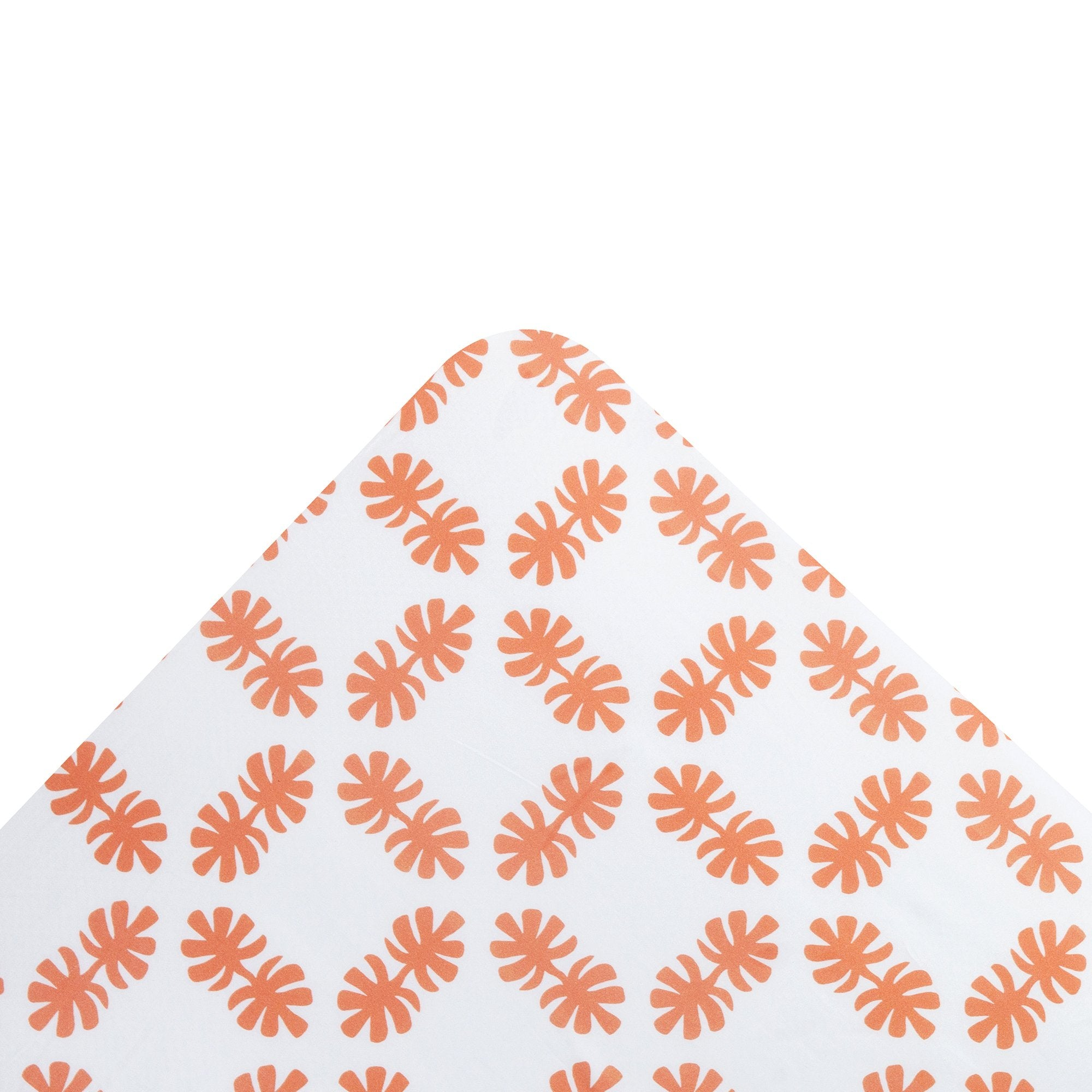Coral Orange Coco Palm Fitted Sheet