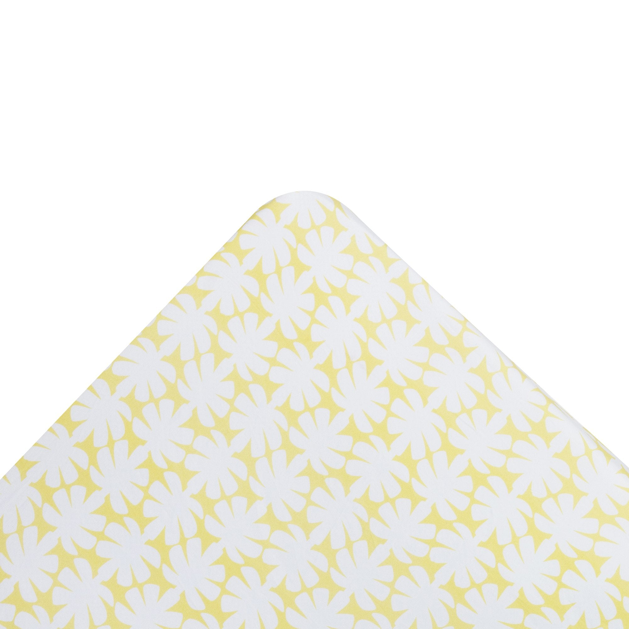Kikau's Lemon Yellow Coconut Palm kids fitted sheet on white background