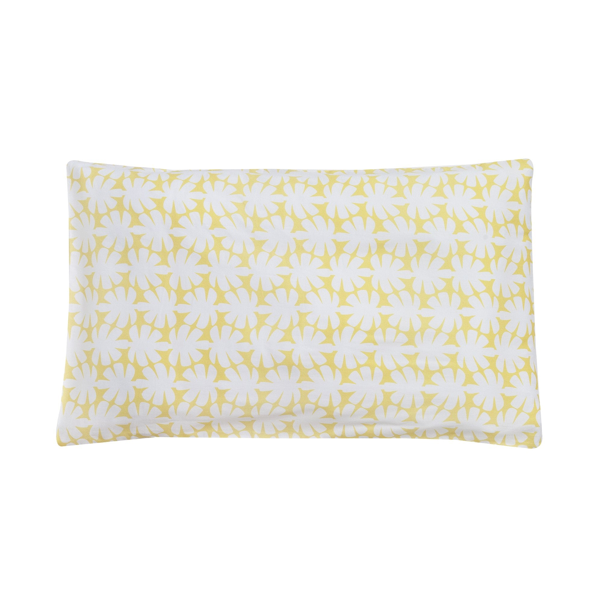 Kikau's Lemon Yellow Coconut Palm kids pillowcase on white background