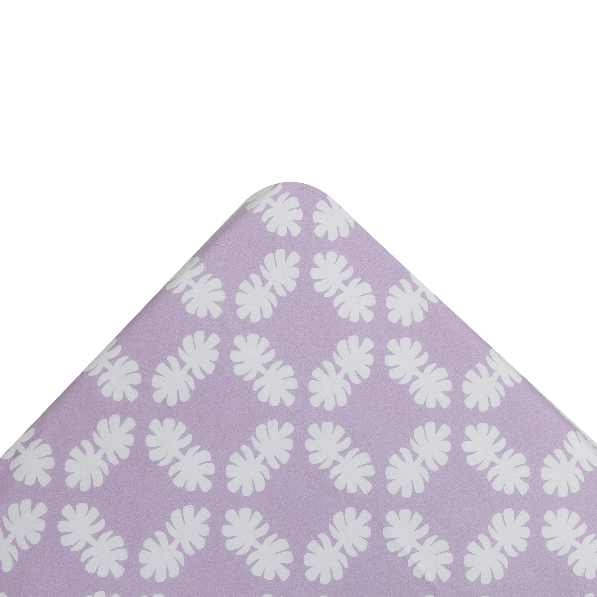 Kikau's Lots of Lilac Coco Palm kids fitted sheet on white background