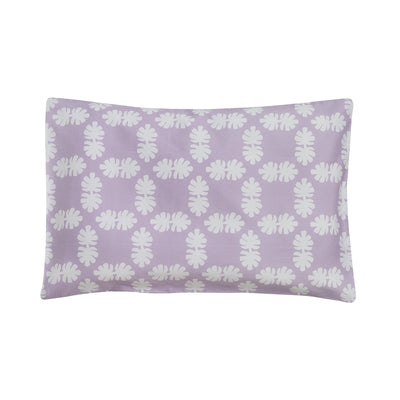 Kikau's Lots of Lilac Coconut Palm kids pillowcase on white background
