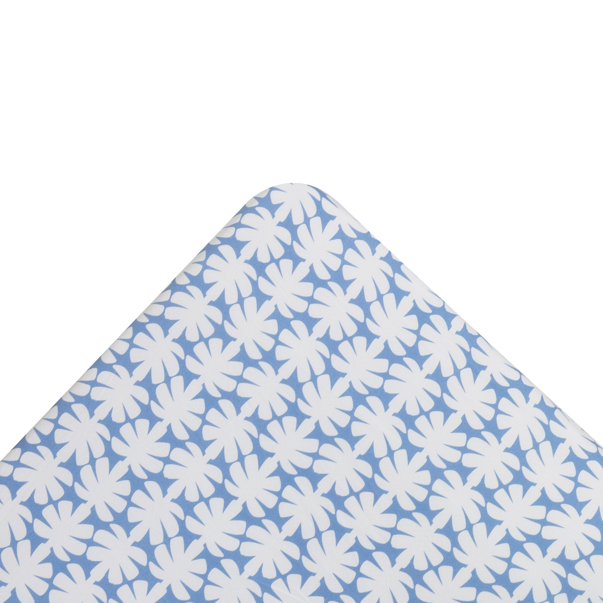 Kikau's Ocean Blue Coconut Palm kids fitted sheet on white background